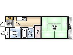 第12イホリ都島マンション[3階]の間取り