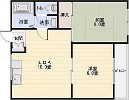ヒュッゲハウス[3階]の間取り