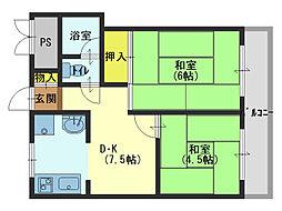 第一森ノ宮中央ハイツ[8階]の間取り