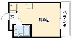 グランディア甲子園[402号室]の間取り