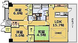 ディークラディア醍醐駅前 ペット飼育条件[402号室]の間取り