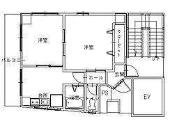 長崎県長崎市大黒町の賃貸マンションの間取り