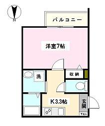 神奈川県横浜市鶴見区寺谷2丁目の賃貸マンションの間取り