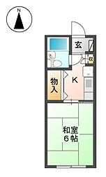 パール徳川[1階]の間取り
