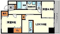 ハイツ山本[5階]の間取り