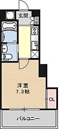 アクアプレイス京都洛南II[A601号室号室]の間取り