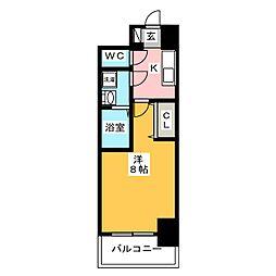 S−RESIDENCE四日市元町 10階1Kの間取り