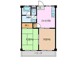 三重県鈴鹿市竹野1丁目の賃貸アパートの間取り