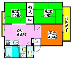 フォーチュンハウス・島町C棟 101号室[1階]の間取り