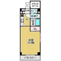愛知県名古屋市港区千鳥2丁目の賃貸マンションの間取り