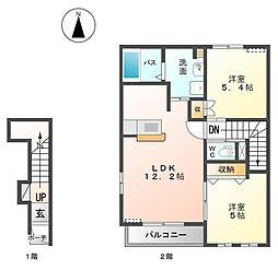 サンライズ M[2階]の間取り