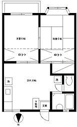 東邦レジデンスIII[202号室]の間取り