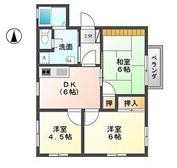 サンコーポNo.8[2階]の間取り