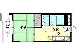 岡崎第7ビル[205 号室号室]の間取り