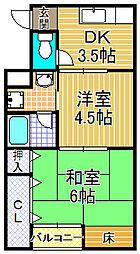 桧マンション[3階]の間取り