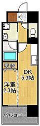 デザイナーズ・ザ・レトロ 12階1DKの間取り