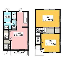 静岡県静岡市清水区山切の賃貸アパートの間取り