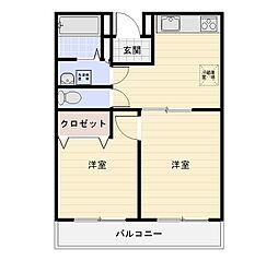 アサミパールマンション[201号室]の間取り