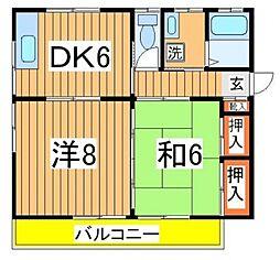 キャッスル松ヶ丘[201号室号室]の間取り