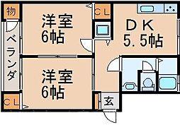 広島県広島市東区温品8丁目の賃貸マンションの間取り