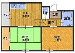 エクセレント舟田[3階]の間取り