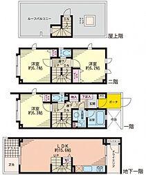 ラ・ピアッツァ上野毛 1階[105号室]の間取り