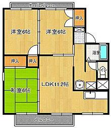 グランドゥール岩崎B棟[1階]の間取り