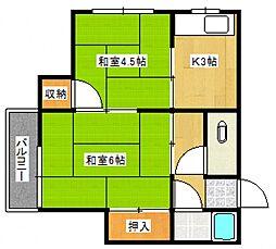 武下荘[201号室号室]の間取り