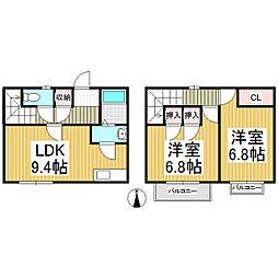 [テラスハウス] 長野県佐久市中込 の賃貸【/】の間取り