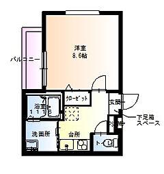 兵庫県尼崎市西桜木町の賃貸アパートの間取り