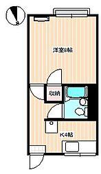 山口県下関市秋根新町の賃貸アパートの間取り