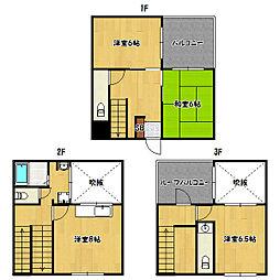 [一戸建] 兵庫県神戸市兵庫区中道通2丁目 の賃貸【/】の間取り