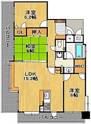 アダージュ薬院弐番館[2階]の間取り