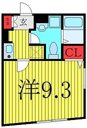 東京メトロ有楽町線 千川駅 徒歩7分の賃貸マンション 4階1Kの間取り