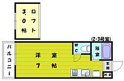 ルート新宮駅前B[2階]の間取り