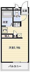 大阪府八尾市田井中4丁目の賃貸マンションの間取り