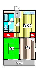 メゾン・ド・フジェール[3階]の間取り