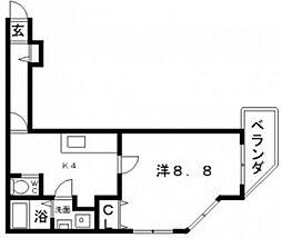 FuMoSe西田辺(フモセ西田辺)[3階]の間取り
