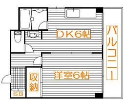 ドミーネ桜川[402号室]の間取り