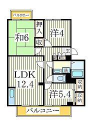 ガーデンビレッジ柏3号棟[2階]の間取り