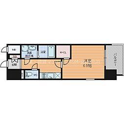 エスプレイス大阪城サウスコンフォート 3階1Kの間取り