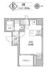 KDXレジデンス神田 11階ワンルームの間取り