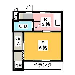 横堀ハイツ[1階]の間取り