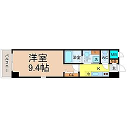 愛知県名古屋市中村区大門町の賃貸マンションの間取り