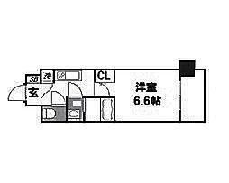 ファーストレジデンス大阪BAY SIDE[11階]の間取り