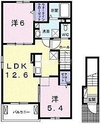 岡山県岡山市北区七日市西町丁目なしの賃貸アパートの間取り