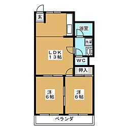 詩仙ハイムI[2階]の間取り