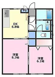 コンフォート的場[1階]の間取り