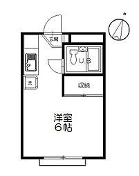 サンコート浜竹[13号室]の間取り