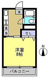 第5ハイムトシマ[305kk号室]の間取り